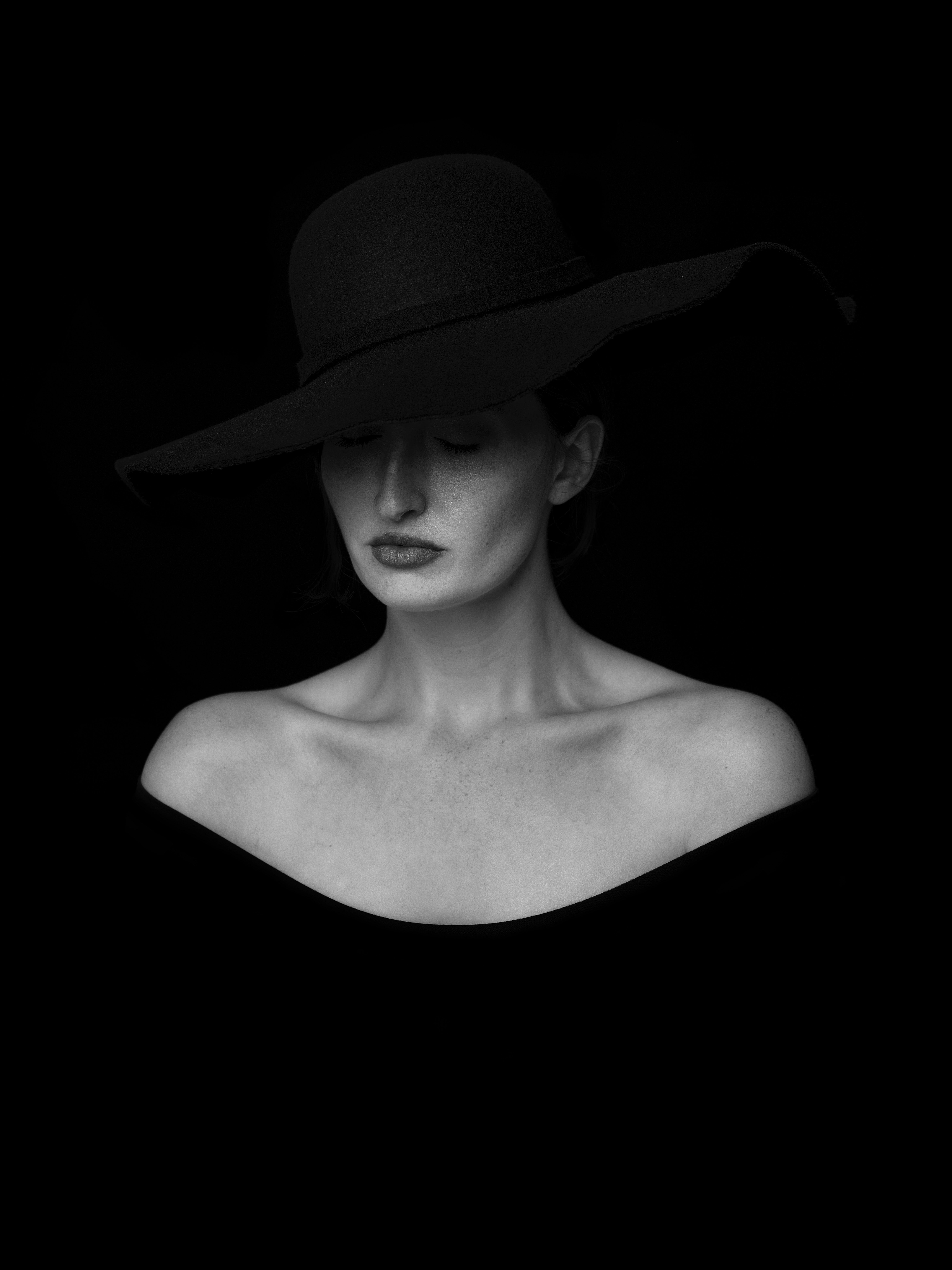 Stylish woman in black