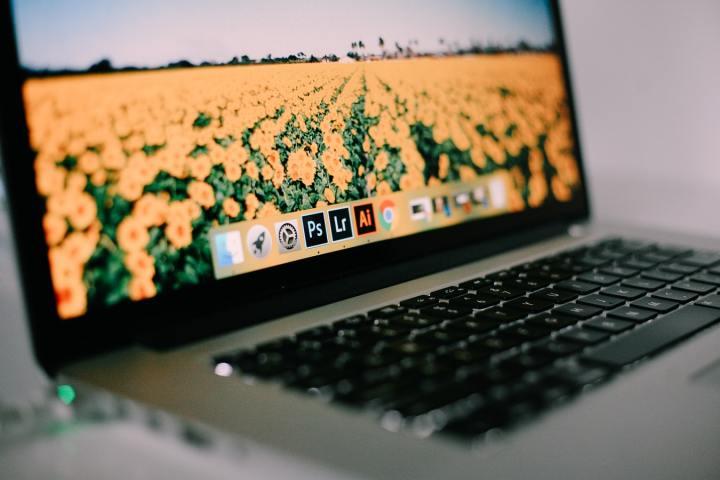 open laptop website app